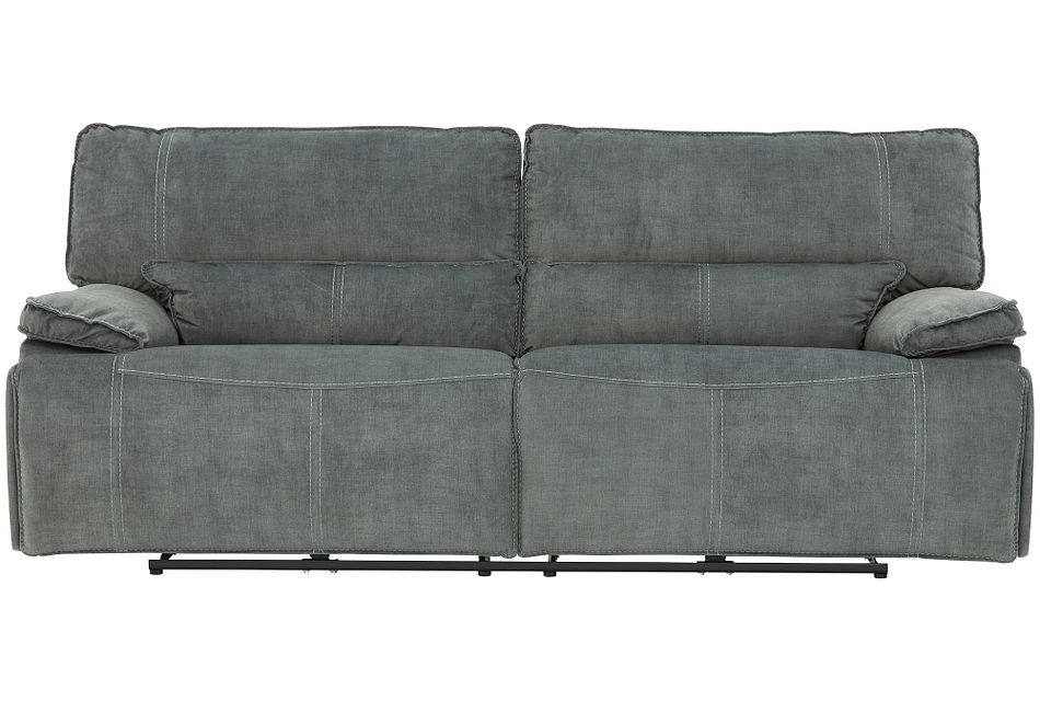 Jesse Dark Gray Micro Power Reclining Sofa