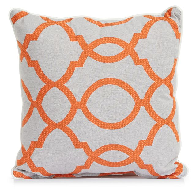 """Clover Orange 18"""" Indoor/outdoor Square Accent Pillow (0)"""