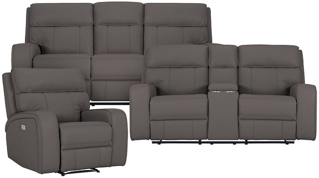 Rhett Gray Micro Power Reclining Living Room (0)