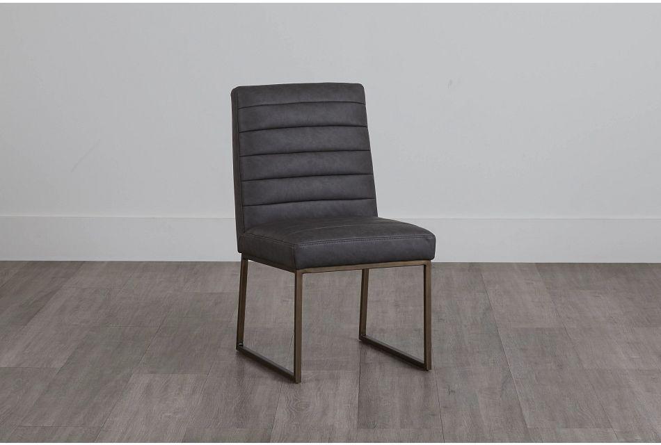 Miller Dark Gray Upholstered Side Chair,  (0)