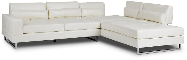 Alec White Micro Right Chaise Sectional (3)