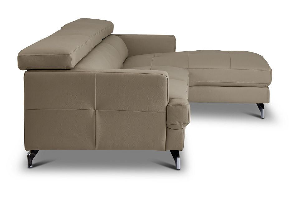 Marquez Taupe Micro Right Chaise Sectional,  (2)