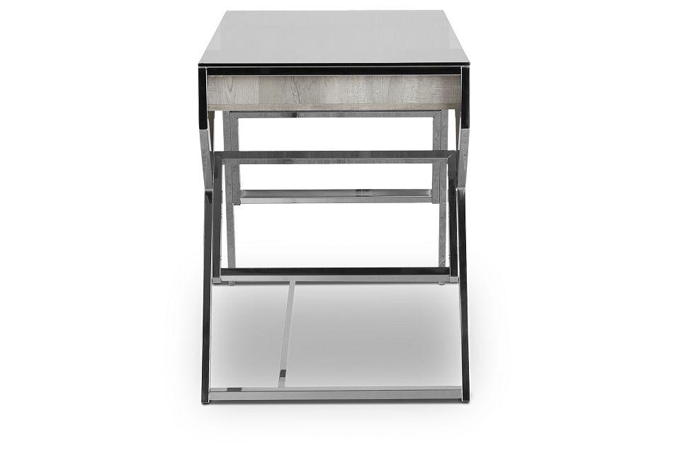 Lovett Light Gray Writing Desk,  (3)