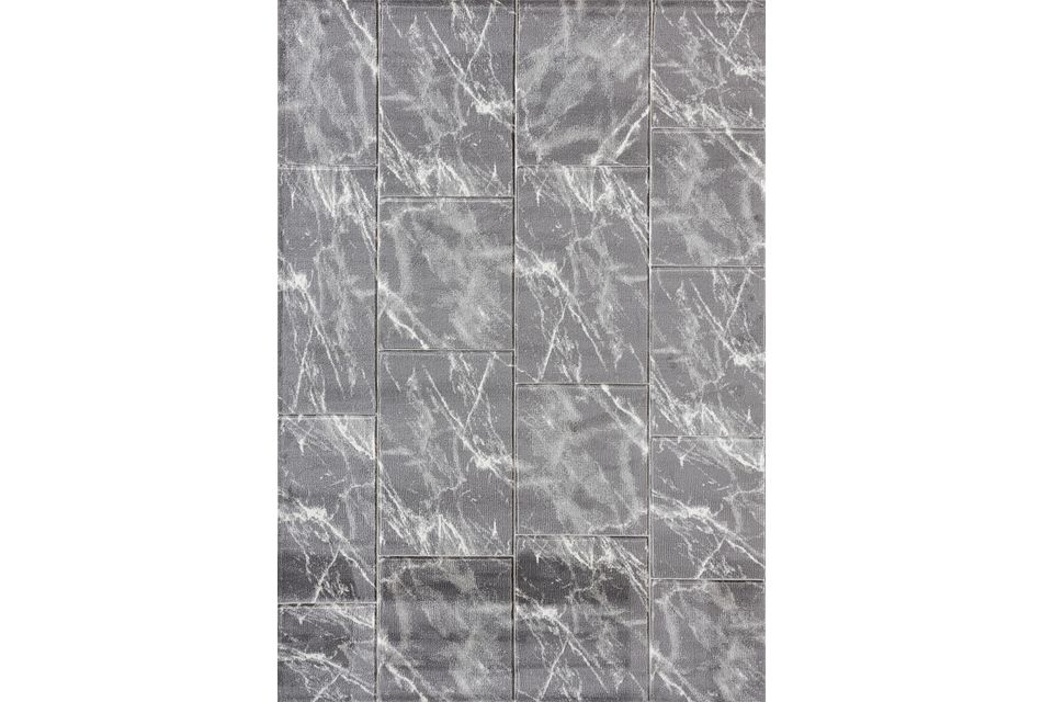 Uptown Light Gray 8x10 Area Rug