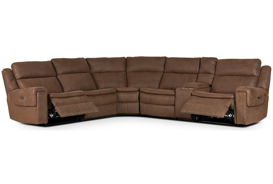 Scout Brown Micro Medium Dual Power Sectional