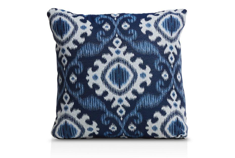 """Englewood Dark Blue 18"""" Indoor/outdoor Accent Pillow"""
