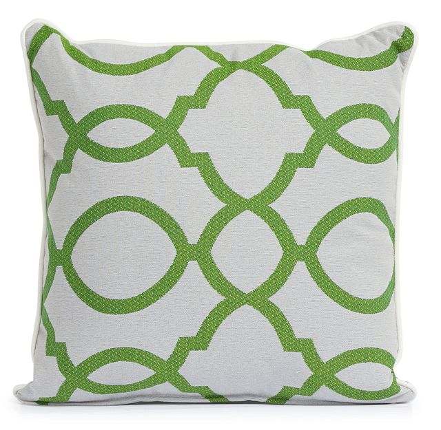 """Clover Green 18"""" Indoor/outdoor Square Accent Pillow (0)"""