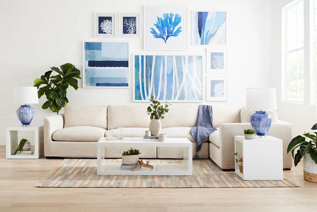 Coralcay Blue Framed Wall Art (1)