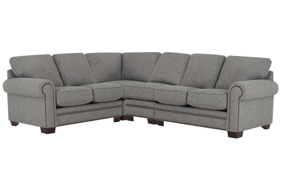 Foster Gray Fabric Large Two-arm Sectional
