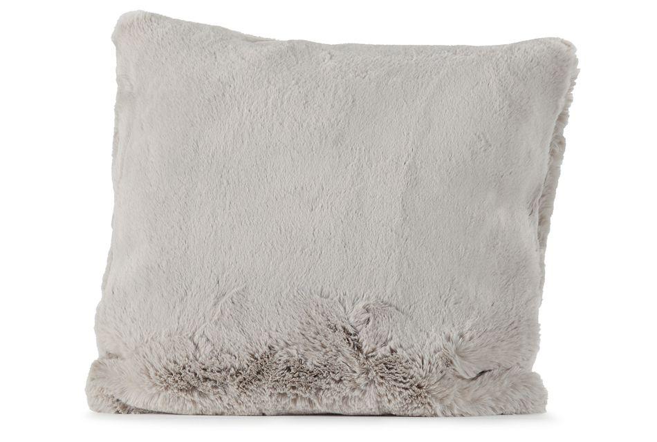 "Kaycee Light Gray  24"" Accent Pillow,  (0)"