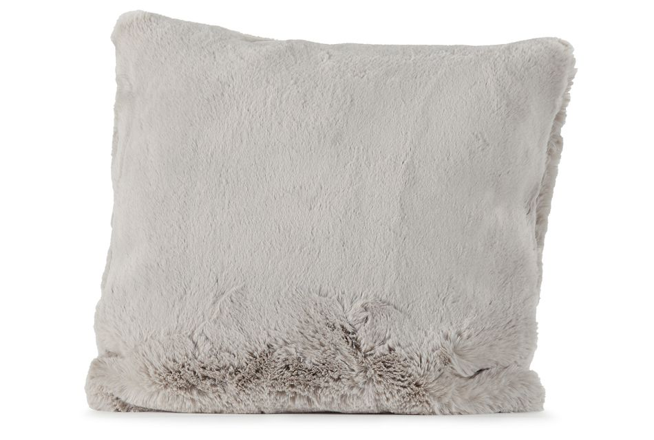 "Kaycee Light Gray 24"" Accent Pillow"