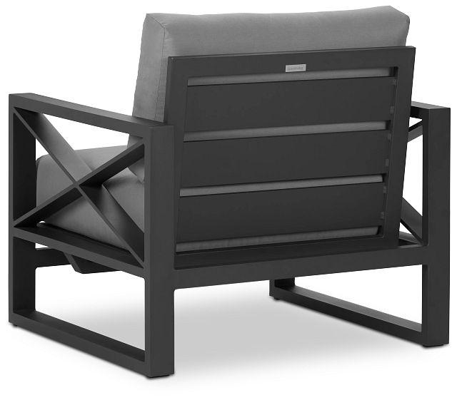 Linear Dark Gray Rocking Chair