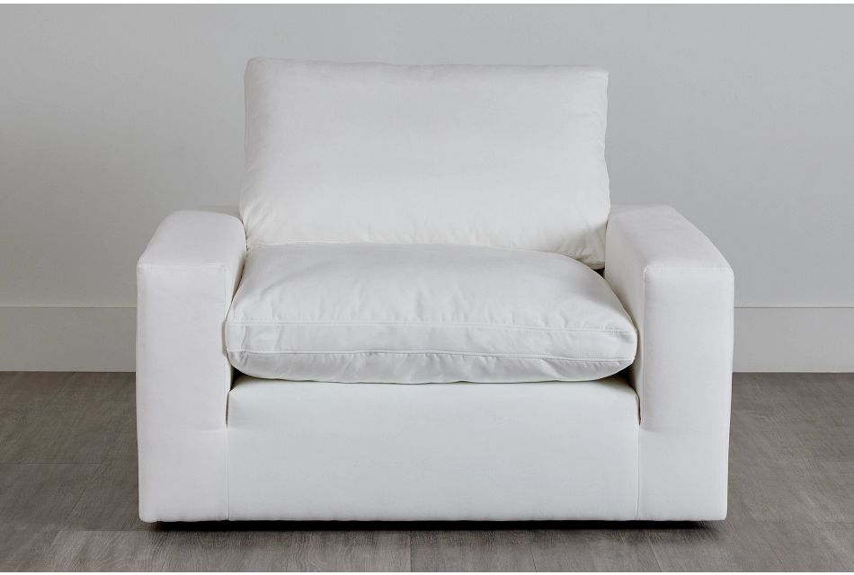 Nixon White Fabric Chair,  (0)