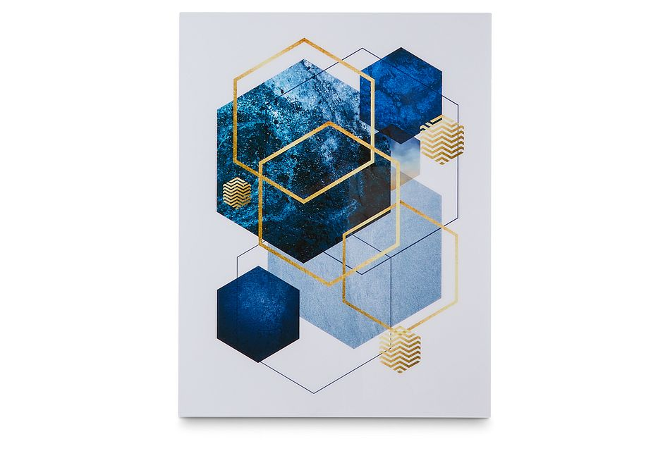Niloy Dark Blue Acrylic Wall Art