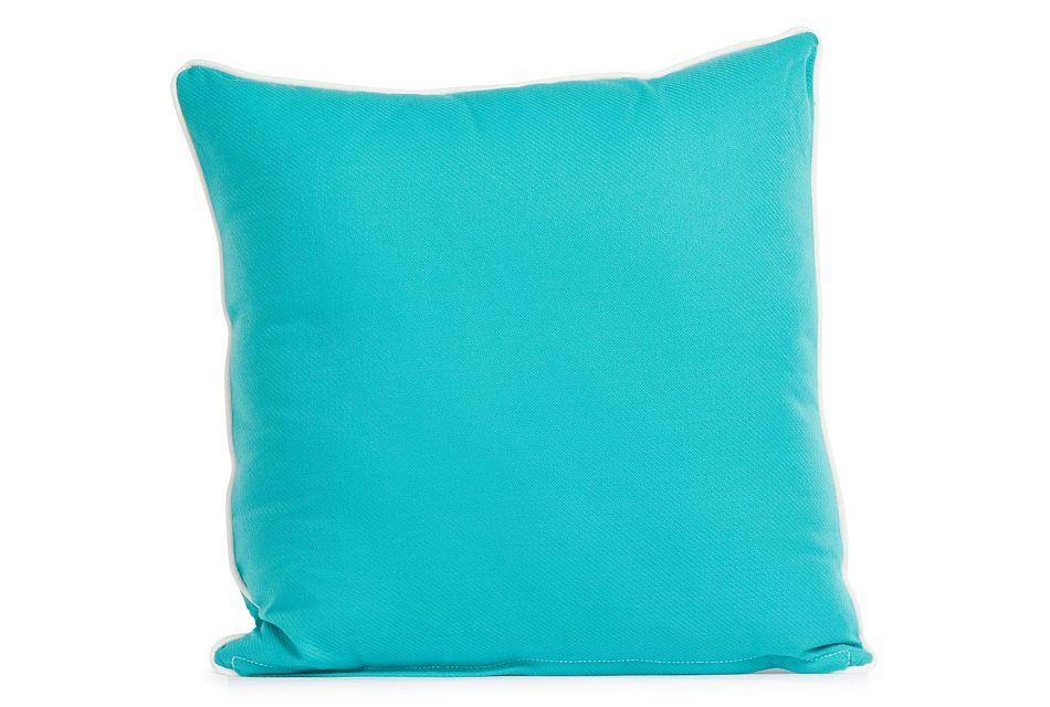 """Forest Aqua 20"""" Indoor/outdoor Square Accent Pillow"""