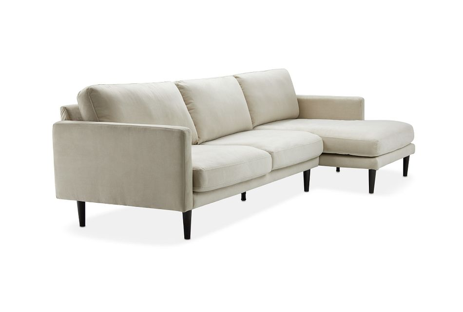 Montecito Beige Fabric Right Chaise Sectional