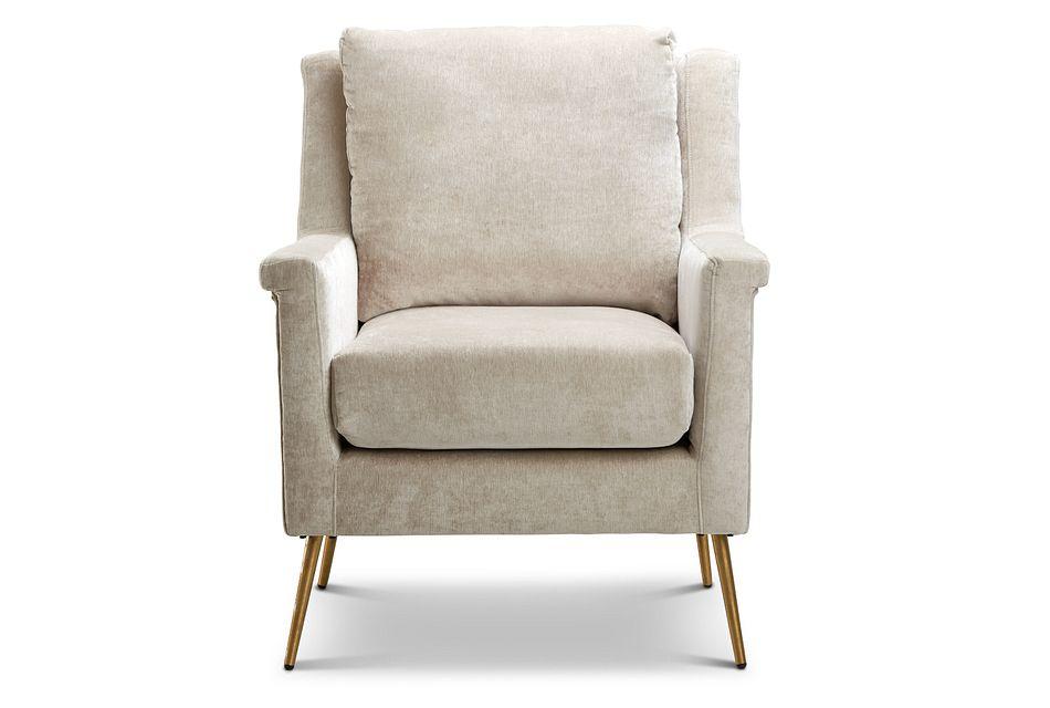 Cambridge Light Beige  Velvet Accent Chair,  (3)