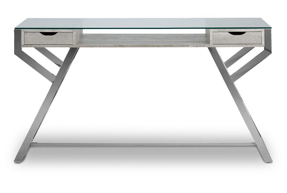 Lovett Light Gray Writing Desk,  (1)