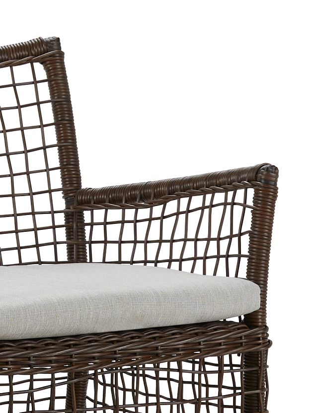 Southport Gray Woven Arm Chair (3)