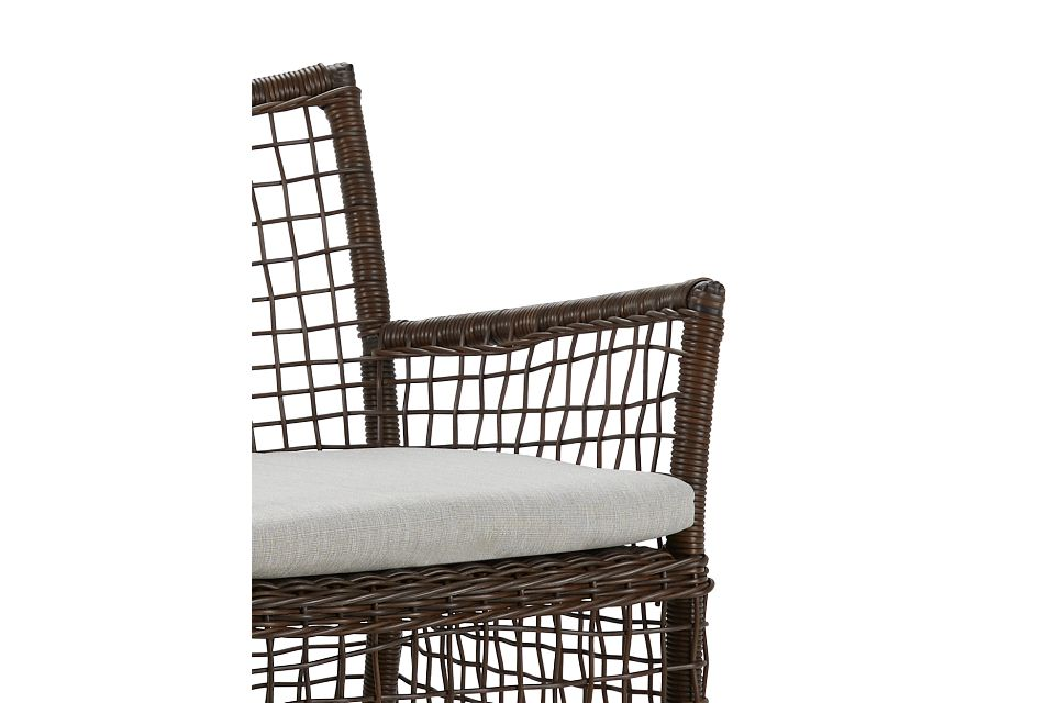 Southport Gray Woven Arm Chair