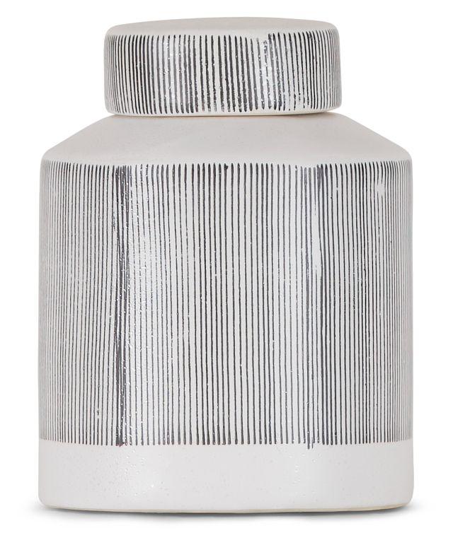 Rigel Gray Ceramic Jar (1)