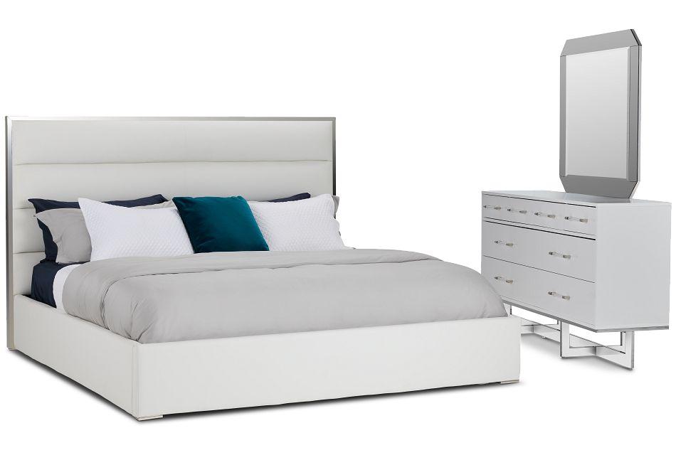 Cortina White Uph Platform Bedroom