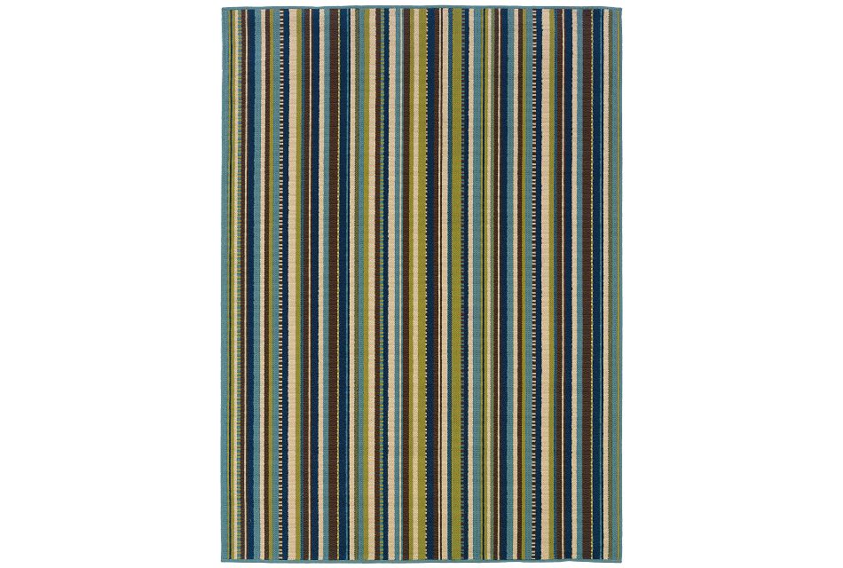 Caspan Multicolored Indoor/outdoor 8x11 Area Rug