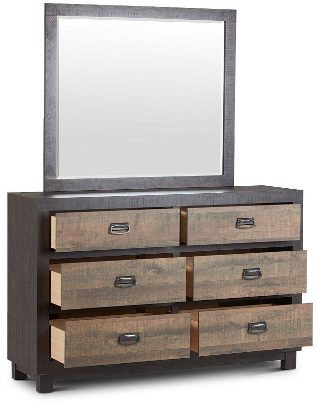 Harlington Dark Tone Dresser & Mirror