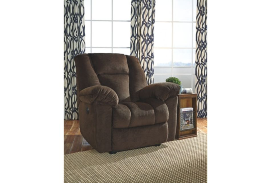 Nimmons Dark Brown Micro Power Recliner