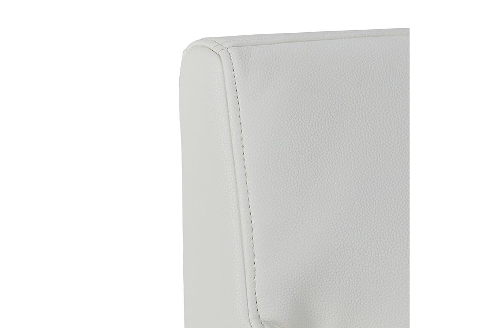 Miami WHITE MICRO Upholstered Arm Chair