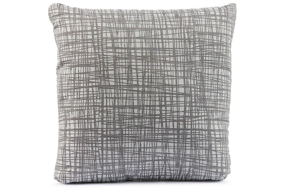 "Hugo Gray 18"" Square Accent Pillow"