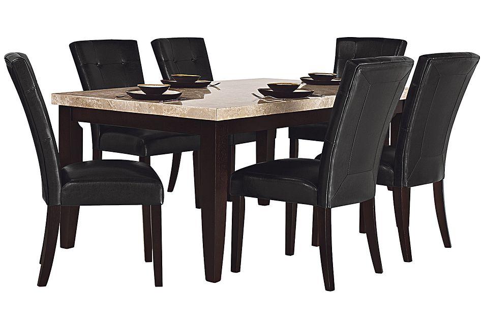 Monark Rectangular Marble Table 4, City Furniture Dining Room Sets