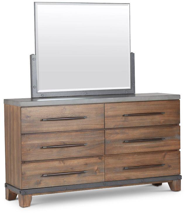 Forge Dark Tone Dresser & Mirror (2)