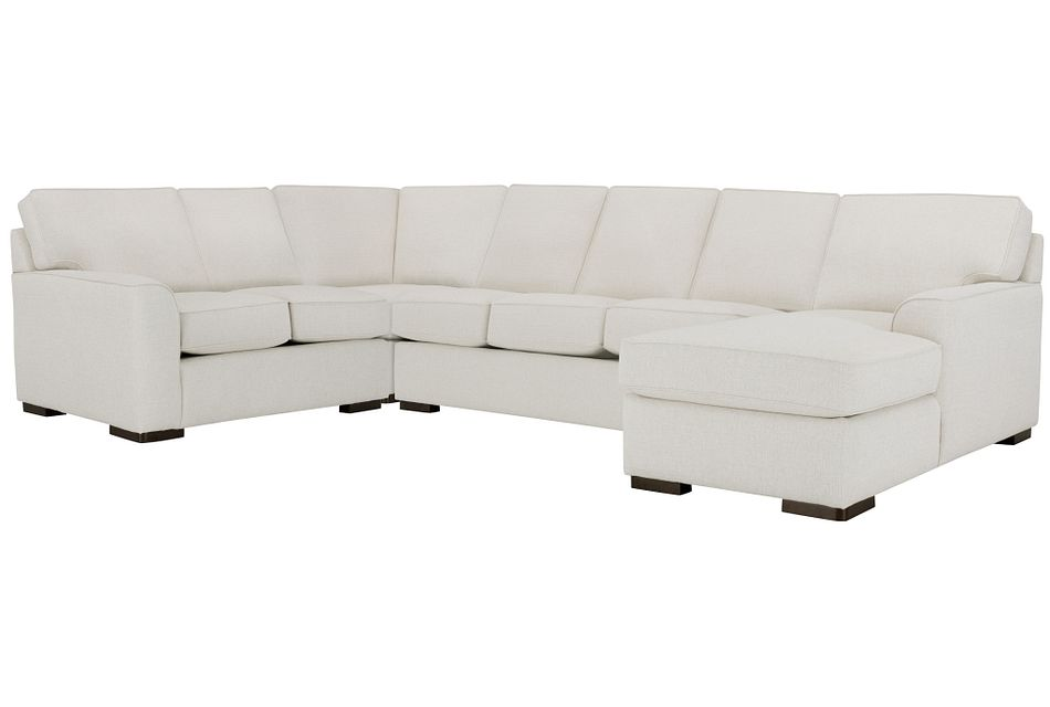 Austin White Cool Mfoam Right Chaise Memory Foam Sleeper Sectional