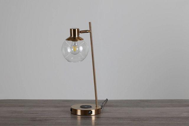 Lila Gold Metal Desk Lamp