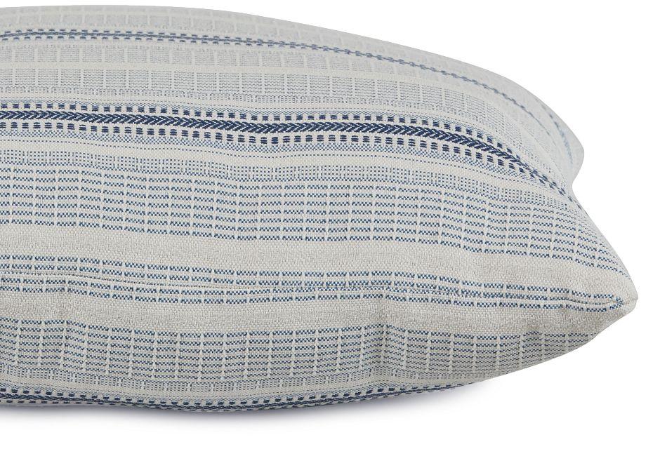 "Lang Blue Fabric 20"" Accent Pillow,  (2)"