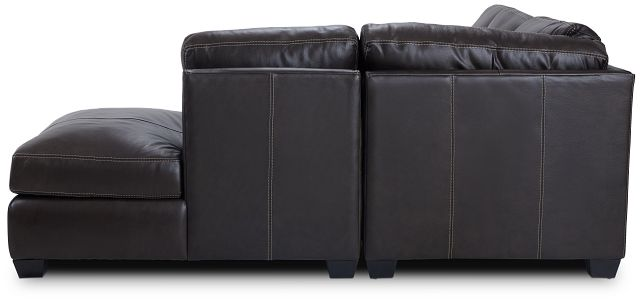 Carson Dark Brown Leather Right Bumper Sectional (2)