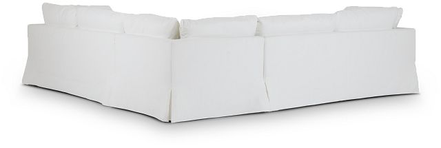 Raegan White Fabric Small Two-arm Sectional