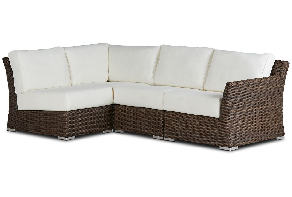 Southport White Right 4-piece Modular Sectional