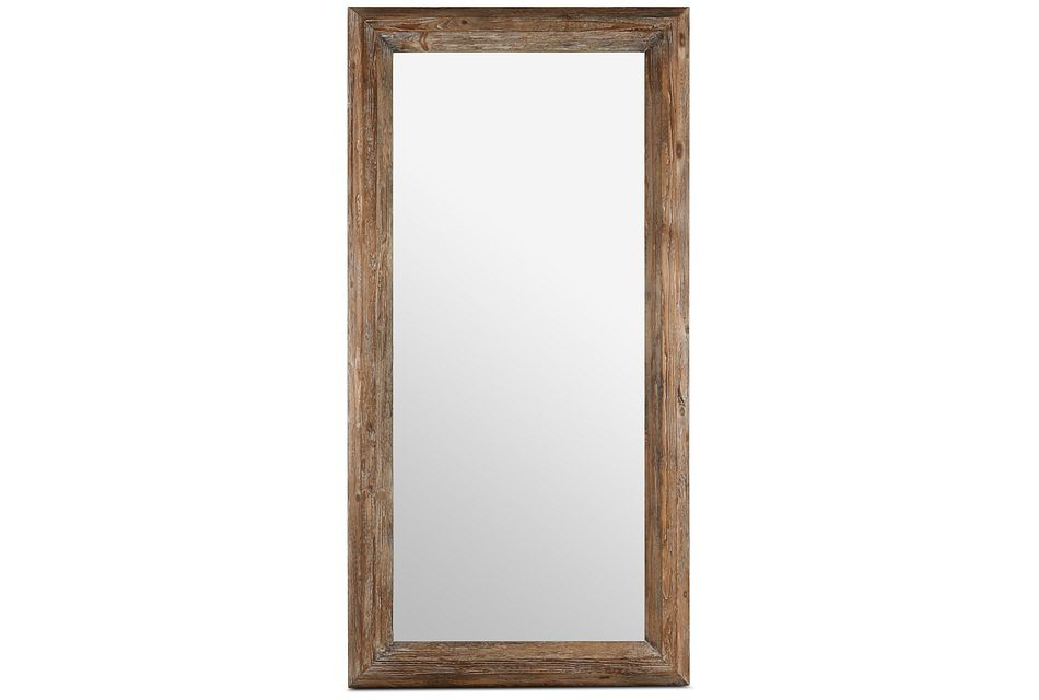 Iona Brown Wood Floor Mirror