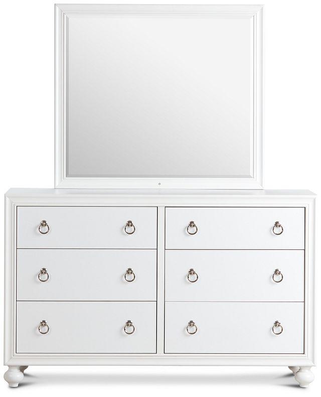 Isabella White Youth Dresser & Mirror (1)