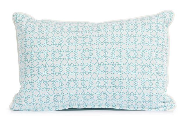 """Valley Aqua 13"""" Indoor/outdoor Rectangular Accent Pillow (0)"""