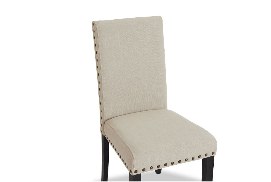 Portia Dark Tone Upholstered Side Chair