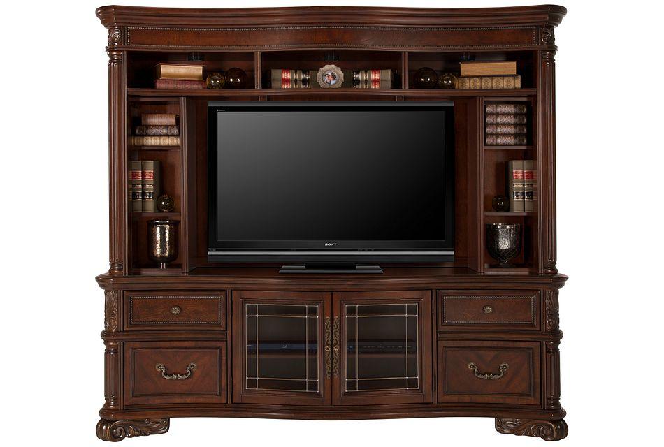 Regal Dark Tone Entertainment Unit, Entertainment Walls Furniture