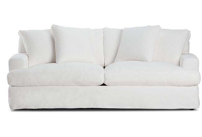 Delilah White Fabric Sofa