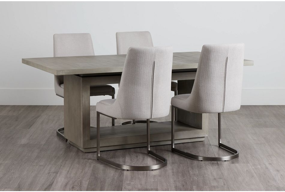 Madden Light Tone Rect Table & 4 Chairs,  (0)