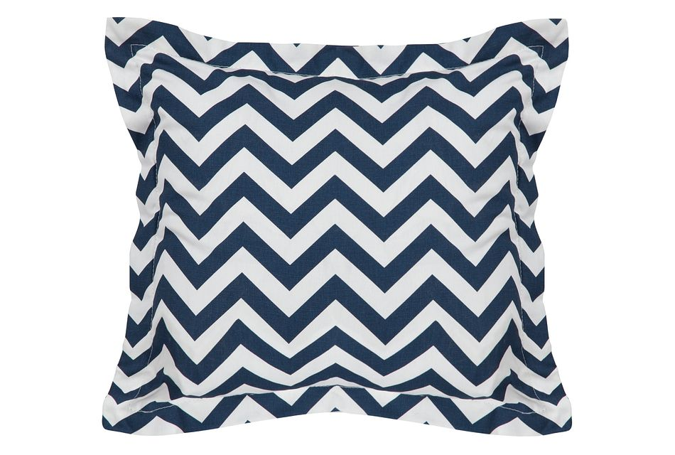 Star Dark Blue  Fabric Square Accent Pillow