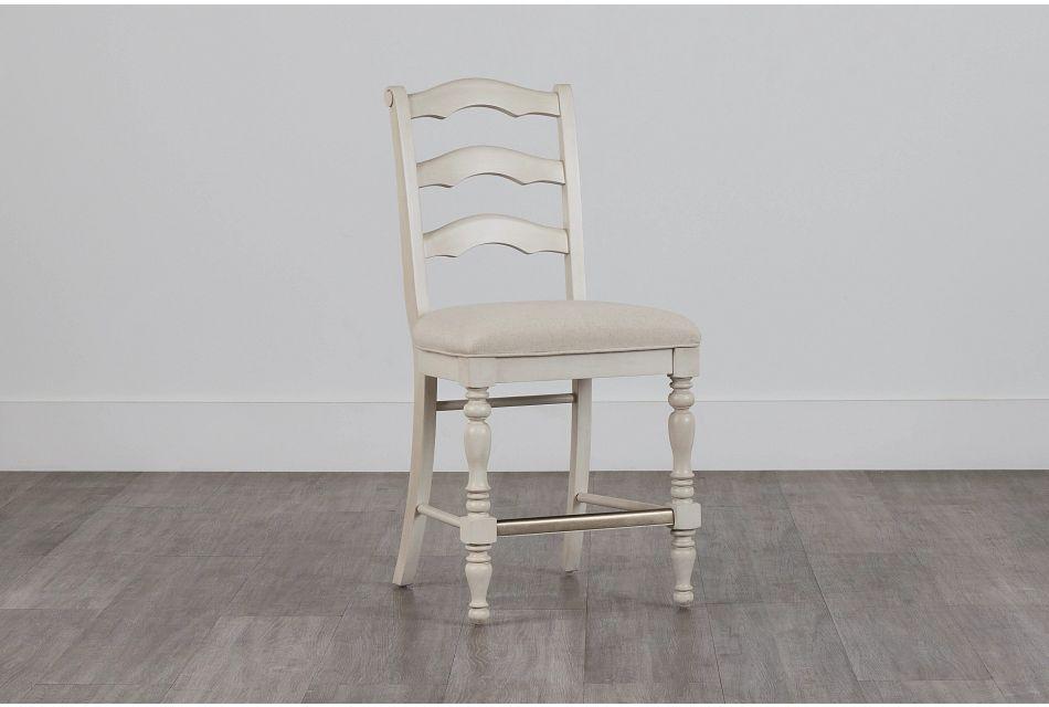 """Savannah Ivory 24"""" Wood Barstool,  (0)"""