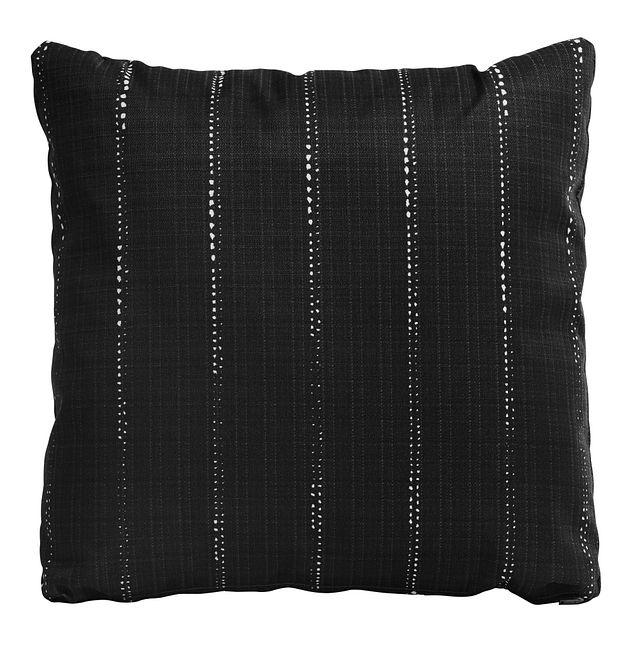 """Carlo Black 20"""" Indoor/outdoor Accent Pillow (0)"""