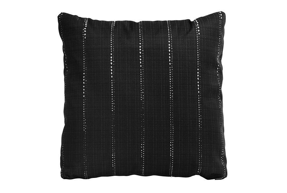 """Carlo Black 20"""" Indoor/outdoor Accent Pillow"""